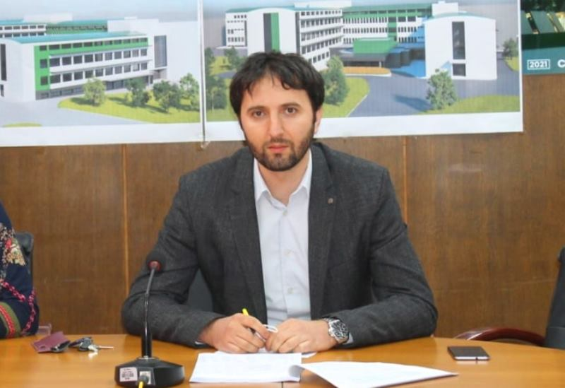 Bojan Kostić na današnjoj konferenciji za medije. Foto vranje.rs