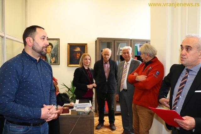 Mininčić je predao legat gradu u januaru 2020. godine. Foto Vranje News