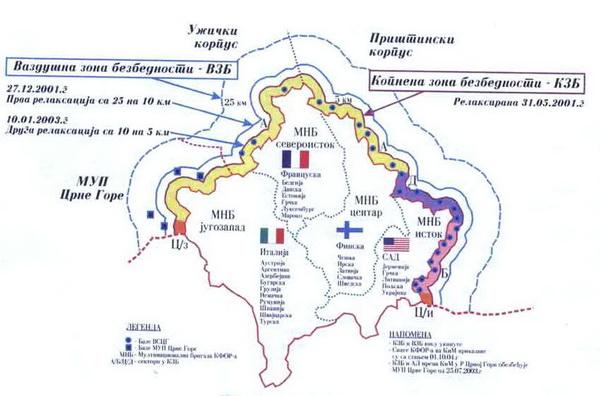 Kosovo posle Kumanovskog sporazuma. Foto printscreen