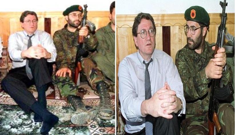 Američki pregovarač Ričard Holbruk bio je gost Glavnog štaba OVK. Foto printscreen Youtube