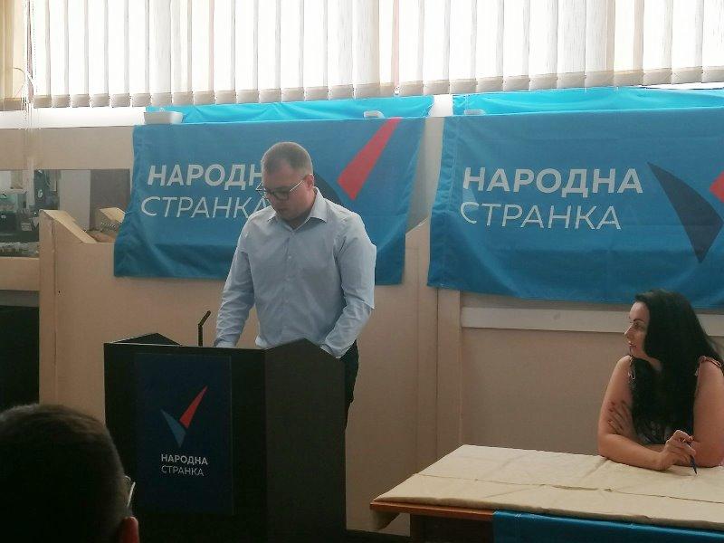 Đorđe Ristić ponovo izabranm za predsednika GrO Narodne stranke Vranje. Foto NS