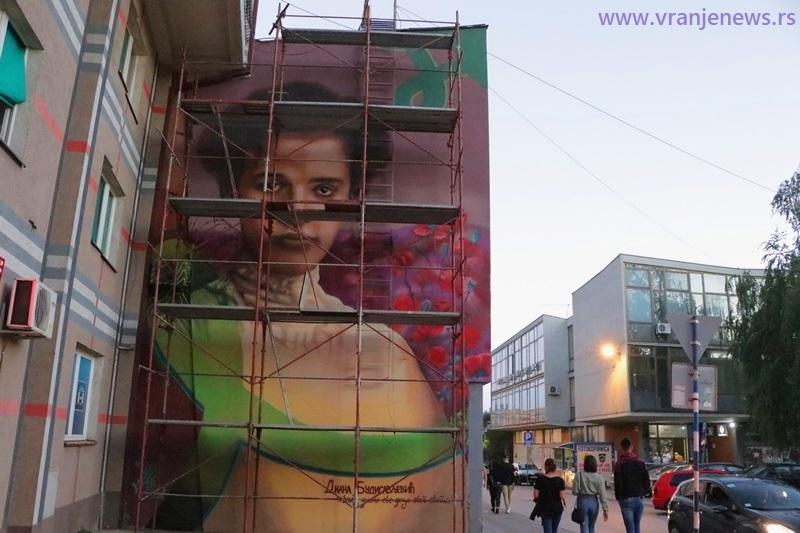 Mural u čast Diane Budisavljević biće otkriven u petak 20. avgusta, na dan njene smrti. Foto Vranje News