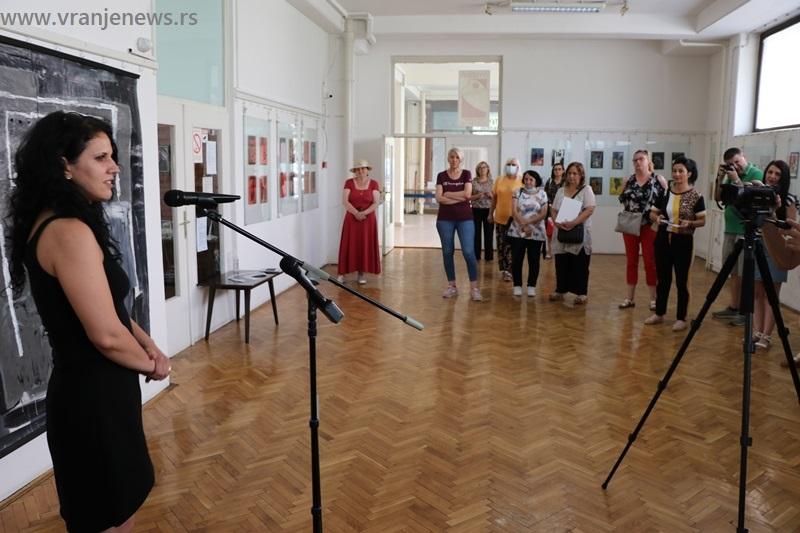 Sa izložbe Aleksandre Ilić u julu ove godine. Foto Vranje News