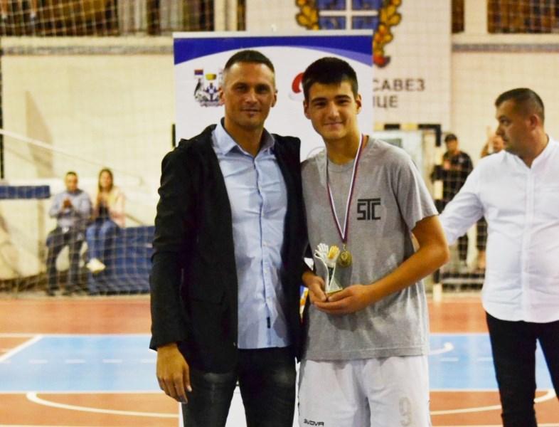 Andrija Kostić, najbolji golman turnira. Foto D. Mirčev
