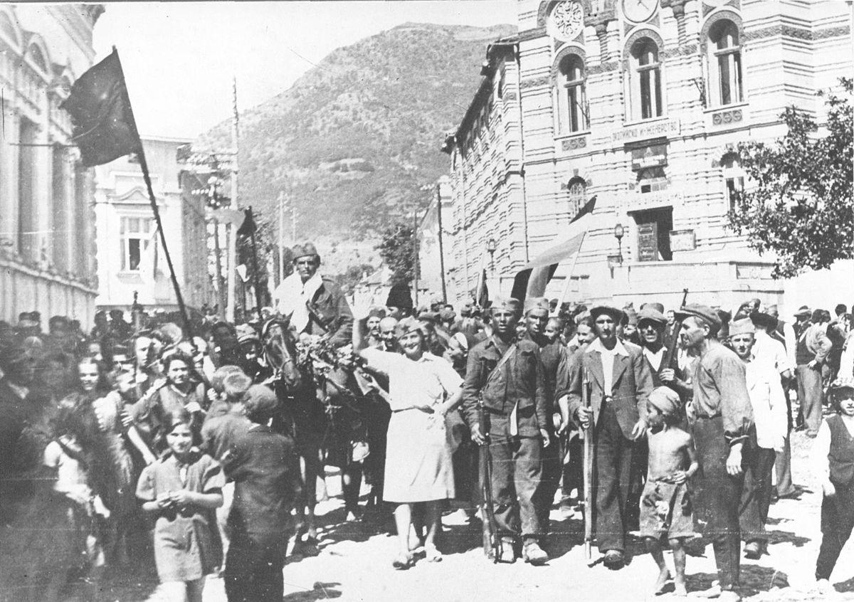 Jedna od fotografija iz perioda oslobođenja Vranja od fašističke okupacije. Foto Wikipedia (autor nepoznat)
