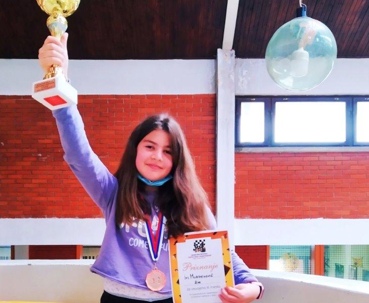 Bronzana medalja: Iva Mladenović. Foto lična arhiva