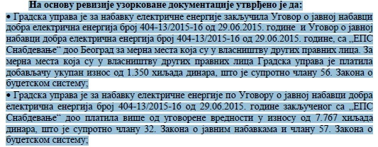 Izvod iz izveštaja DRI. Foto Vranjenews