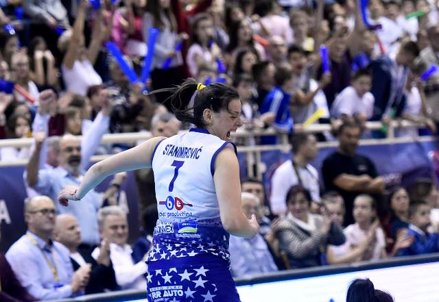 Jelena u jednoj od akcija na finalu kupa sa Zvezdom. Foto OS Srbije