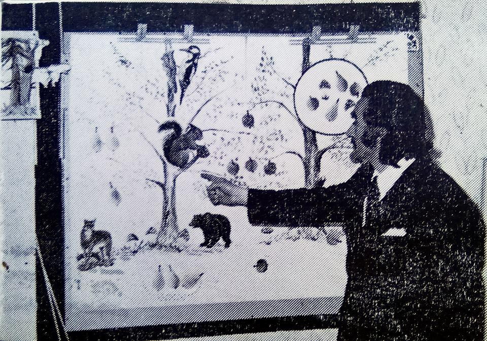 Učitelj Krampus na času u školi sredinom 70-ih prošlog veka. Foto Fejsbuk grupa