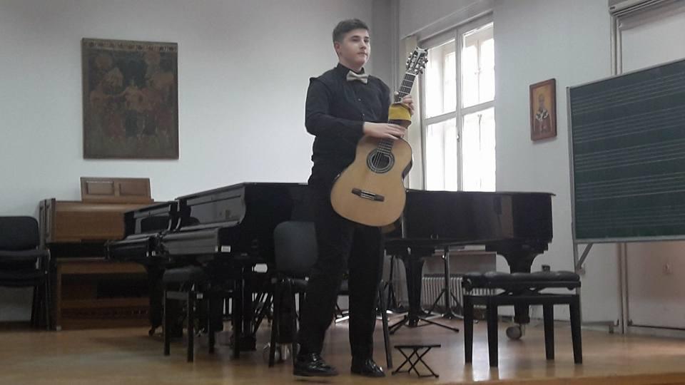 Damjan Stanković. Foto Muzička škola Stevan Mokranjac