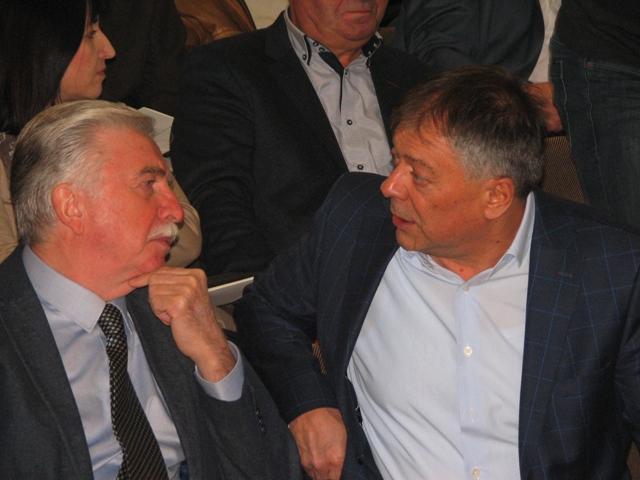 Nikola Šainović i Novica Tončev na Desetoj konferenciji gradske organizacije SPS-a. Foto VranjeNews