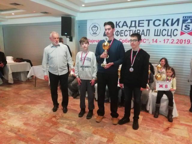 Petar Spasić srebrni u omladinskoj konkurenciji. Foto privatna arhiva