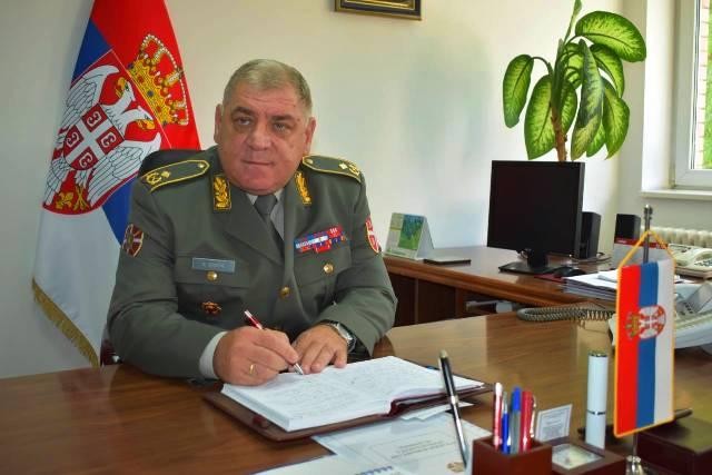 Makareg ističe dobru saradnju sa Vojskom Srbije: brigadni general Slobodan Stopa. Foto VranjeNews
