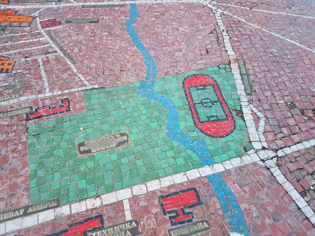 Mozaik mapa je nekad izgledala ovako. Foto VranjeNews